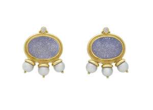 African Queen Chalcedony Earrings AFQ26268