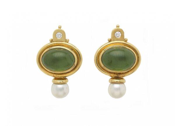 Cabachon-green-tourmaline-valois-earring-set-with-akoya-pearls-and-diamonds-EVA22176