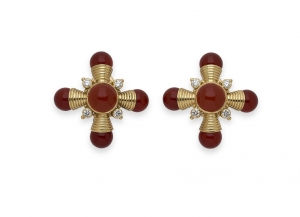 Carnelian-cabachon-cross-earrings-CRS26515