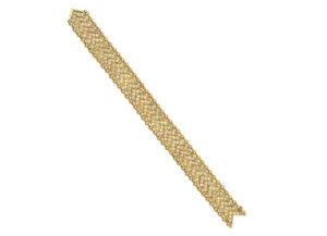 Gold Agincourt chevron bracelet with diamonds; fine jewellery London