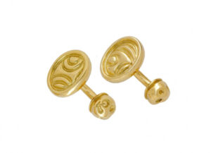 Elizabeth_Gage_Carved_Gold_Cufflinks_CUF24487-600×434