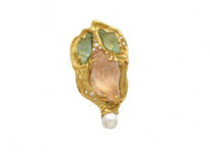 Elizabeth_Gage_Morganite_Aquamarine_Snail_Pin_PIN22186-600×435