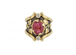 Faceted-Rubellite-Heliotrope-ring-with-purple-enamel-and-diamonds-TOP-VIEW-HEL22571-600×434