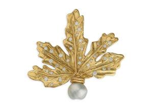 Gold-and-Diamond-Leaf-Pin-PIN25983