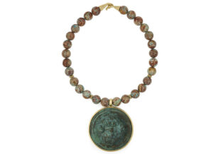 Imperial-Turquoise-necklace-with-Roman-Phalon-of-Zeus-Ammon-NMS23591