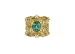 Mint-green-Tourmaline-tapered-templar-ring-with-myrtle-leaves-and-diamonds-TTS25745