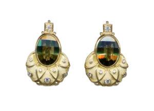 Olive-green-tourmaline-Eleanor-earrings-with-diamonds-ELA22817