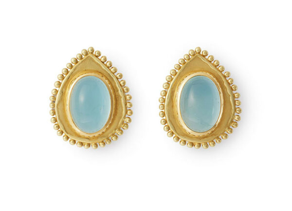 Oval-cabochon-aquamarine-beaded-surround-earrings-EMS22596