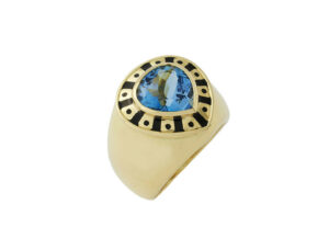Pear-shaped-Aquamarine-orlov-ring-with-black-enamel-ORV17133