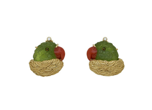 Peridot-parrot-earrings-in-nests-with-diamonds-EMS26532