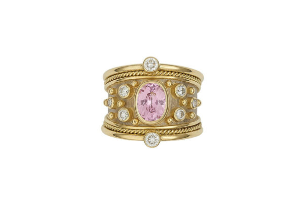 Pink-spinel-tapered-templar-ring-with-Diamonds-TOP-VIEW-TTS26599