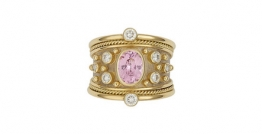 Pink-spinel-tapered-templar-ring-with-Diamonds-TOP-VIEW-TTS26599 copy