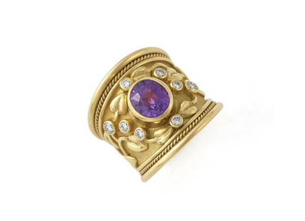 Purple-sapphire-tapered-templar-ring-with-diamonds-and-myrtle-leaves-TTS25782_ef2186d4-c739-4d77-a53c-d06428a2fce4
