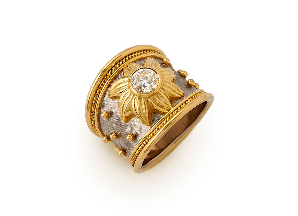 Diamond Sun Ring - Elizabeth Gage