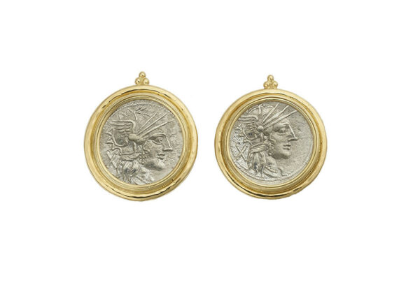 Silver-coins-earrings-Denarius-cn-Papirius-Carbo-with-3-gold-beads-ECG26603