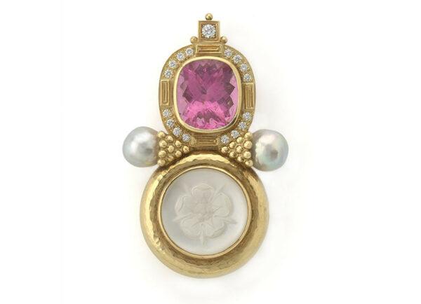Tudor-rose-pin-with-pink-tourmaline-and-pearls-PIN22059