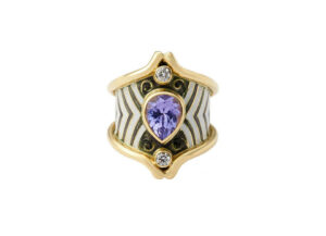 lavender-spinel-heliotrope-ring-with-enamel-and-diamonds-top-view-HEL26387