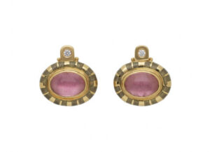 oval-cabachon-pink-tourmaline-persian-queen-earrings-with-grey-enamel-PRQ24472-600×434