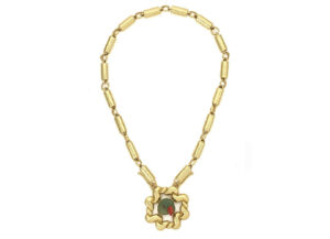 planished-tube-necklace-with-tsavorite-parrot-head-NMS25025