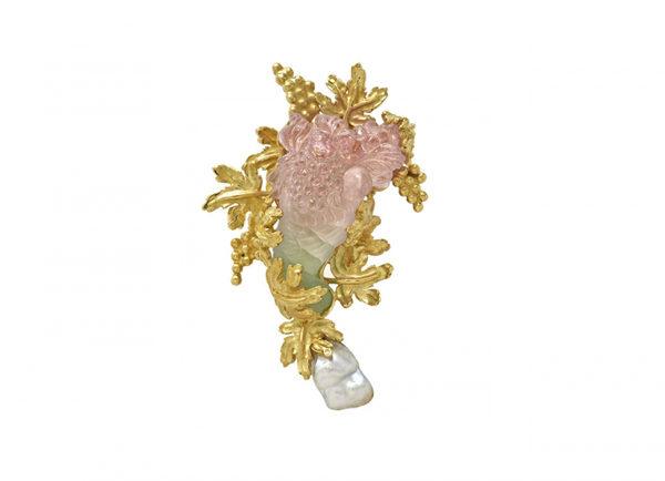 Bi-colour-tourmaline-cornucopia-pin-with-pearl-PIN19024-600×434