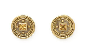 Yellow Sapphire Stud Earrings
