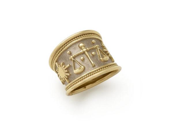 zodiac tapered templar ring