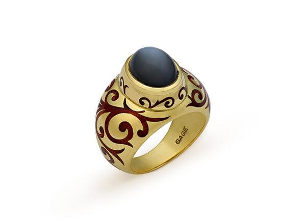 Grey Moonstone Orlov Ring