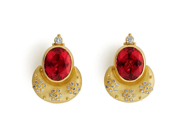 Rubellite Eleanor Earrings ELE25877