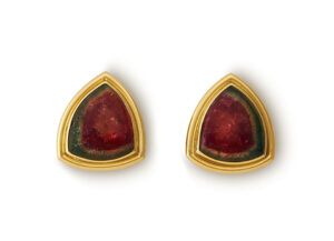 Watermelon Tourmaline Earrings EMS26932
