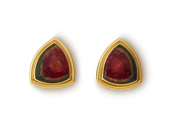 Watermelon Tourmaline Earrings EMS26932