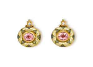 Pink Tourmaline Persian Queen EarringsPRQ22119-600×434