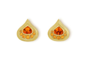 Mandarin Garnet Isfahan Earrings