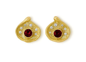 Rubellite and Diamond Shiraz Earrings