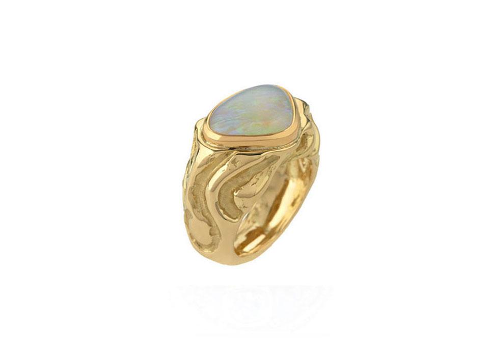 Molten Gold Opal Ring