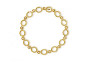 Gold necklace with links; fine jewellery London
