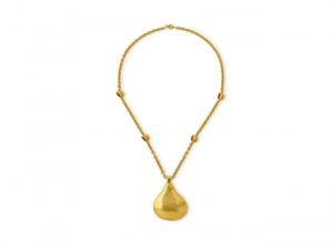 22ct gold chain and brass fob watch; fine jewellery London;
