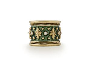 Fleur-de-Lys and Diamond Templar Band Ring