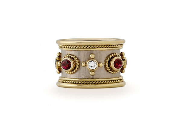 Ruby and Diamond Templar Band Ring