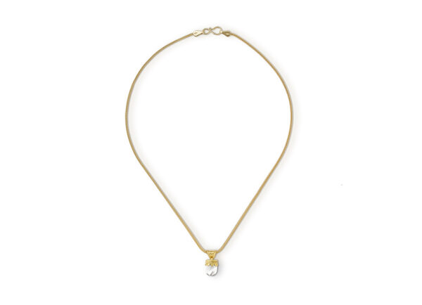 Gold necklace with Hellenistic rock crytstal pendant; fine jewellery London