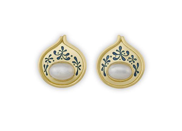 mabé pearl earrings