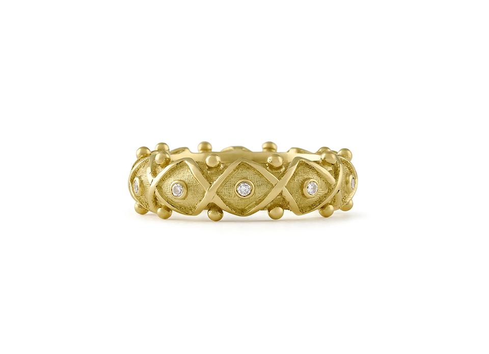 Diamond Trellis Band Ring