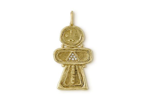 Tanit Pendant with Diamonds