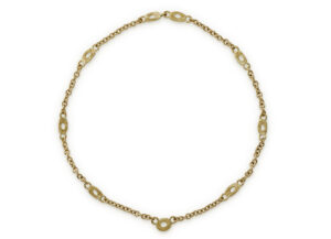 Granulated Link Necklace