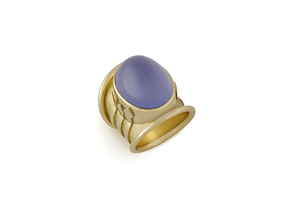 Chalcedony Tapered Templar Ring