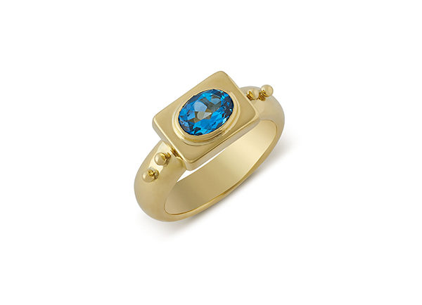 Blue Topaz Valois Ring