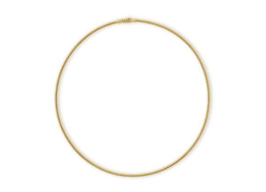Gold cable wire necklace; fine jewellery London