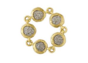 Alexander III Silver Coin Bracelet