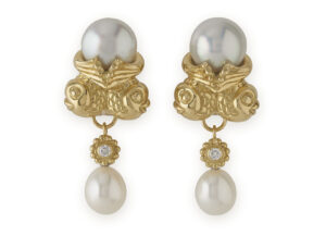 Twin Fish Pearl Earrings