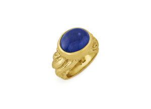 Tanzanite and Molten Gold Ring