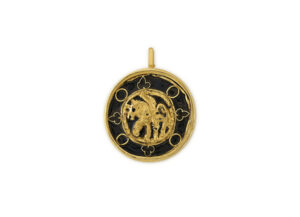 Gold Winged Horse Pendant